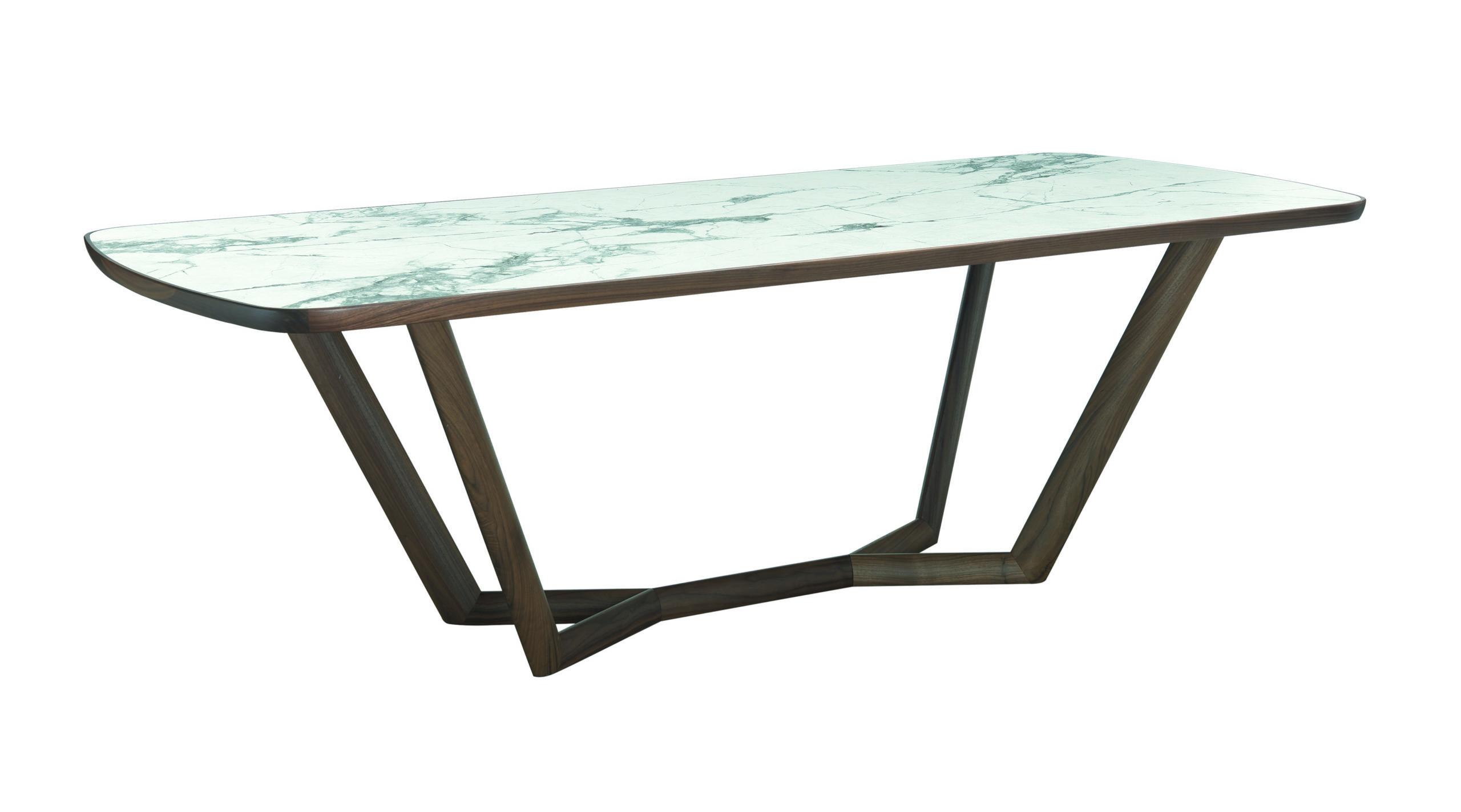 tavolo lamina di oliver b in invisible white modello giuli